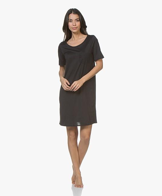 3ef5a7f149 Home  »  sleepwear  »  nightdress · HANRO. Cotton Deluxe Jersey Nightshirt  Black