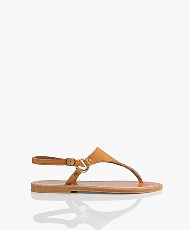 K. Jacques St. Tropez Triton Leather Sandals - Natural