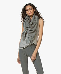 Woman by Earn WBE Allover Logo Print Scarf - Greyish Green