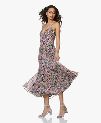 IRO Severn Floral Chiffon Dress - Pink