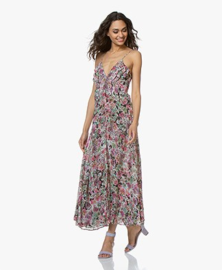 IRO Severn Floral Chiffon Dress - Pink