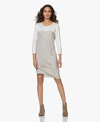 Sibin/Linnebjerg Bolzano Knitted Two-Tone Dress - Sand/Off-white