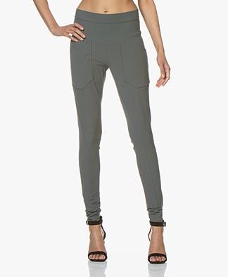 Woman by Earn Erin Travel Jersey Pants - Greyish Green