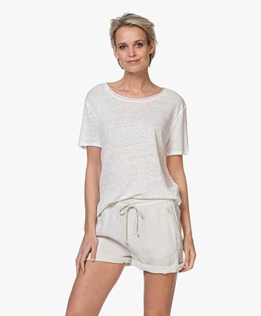 Josephine & Co Bia Linen T-shirt - Off-white