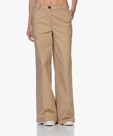 ba&sh Dove Cotton Wide-leg Pants - Beige