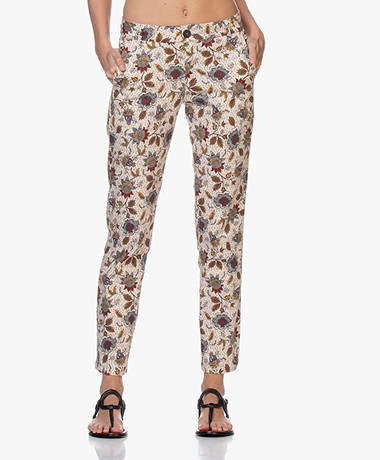 MKT Studio Pulco Stretch Cotton Printed Pants - Off-white