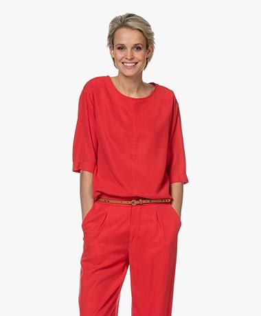 JapanTKY Yukimo Tencel T-shirt - Japanese Red