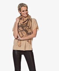 By Malene Birger Milou Printed Wool Scarf - Tan