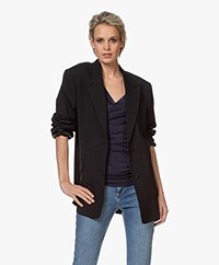 Filippa K Norine Wool Blend Blazer - Black