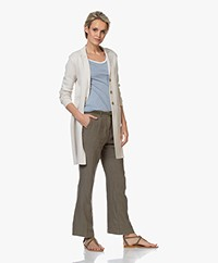 Belluna Sunset Cotton Blazer Cardigan - Sand