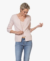 Belluna Samedi Crochet Cardigan in Cotton - Rose