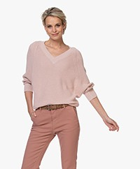 by-bar New Lune V-neck Sweater - Blush