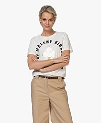 By Malene Birger Desmos Printed T-shirt - Off-white/gold