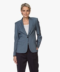 Filippa K Sasha Cool Wool Blazer - Blue Grey