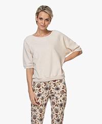 by-bar Lena Short Sleeve Sweatshirt - Oyster