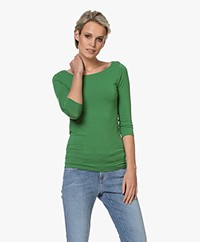 Majestic Filatures Cropped Sleeve T-shirt - Prairie Green