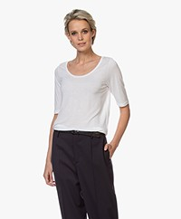 Filippa K Tencel Scoop Neck Tee - White
