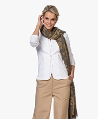 Woman by Earn Milou Jacquard Scarf - Army