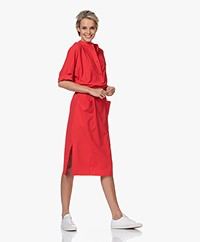 JapanTKY Agda Travel Jersey Shirt Dress - Japanese Red