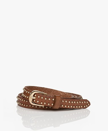 Mes Demoiselles Renegade Leather Belt - Cognac