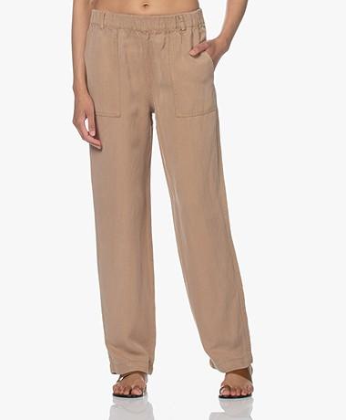 MKT Studio Piscou Linen-Tencel Pants - Sable