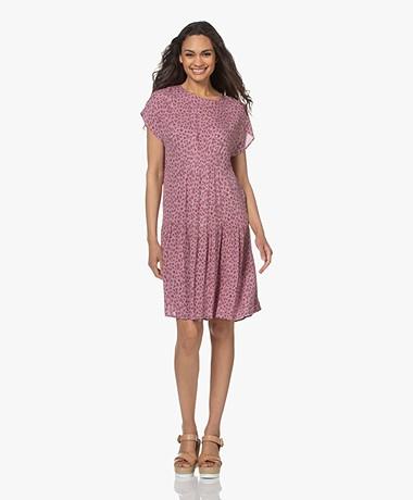 indi & cold Crinkle Viscose  Millefleurs Dress - Lilac