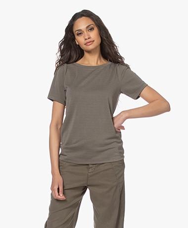 Plein Publique La Poppy Modalmix Piqué T-shirt - Army