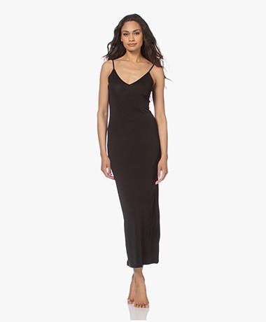 By Malene Birger Camina Viscose Slip Dress - Black