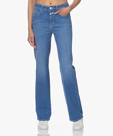 Closed Leaf Flared Organic Cotton Jeans - Mid Blue