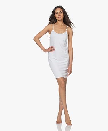 no man's land Viscose Jersey Slip Dress - White
