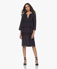 Belluna Abigail Pure Linen Dress - Navy