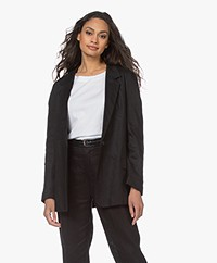 Resort Finest Laura Pure Linen Blazer - Black