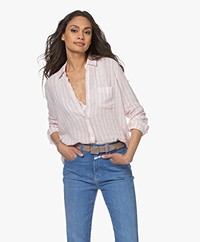 Rails Charli Linnen Blend Striped Shirt - Amaranth
