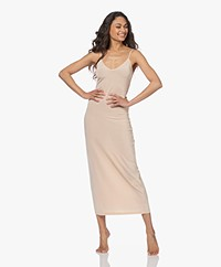 By Malene Birger Camina Viscose Slip Dress - Champagne
