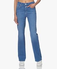 Closed Leaf Flared Bio Katoenen Jeans - Middenblauw