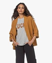 indi & cold Oversized Linen Kimono Jacket - Ambar