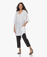 Resort Finest Camilla Oversized Linnen Tuniek - Wit