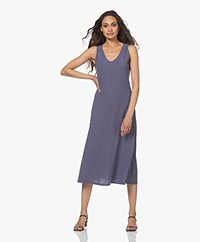 no man's land Tech Jersey Midi Dress - Blueberry
