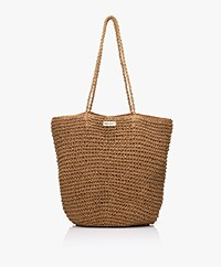 Monk & Anna Tsue Straw Shopper - Brown