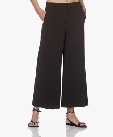 Drykorn Bonnet Jersey Culottes Pants - Black