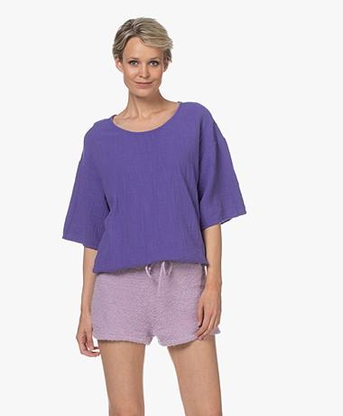 American Vintage Oyobay Muslin Blouse - Purple