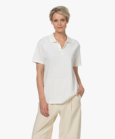 Closed Cotton Pique Polo Shirt - Ivory