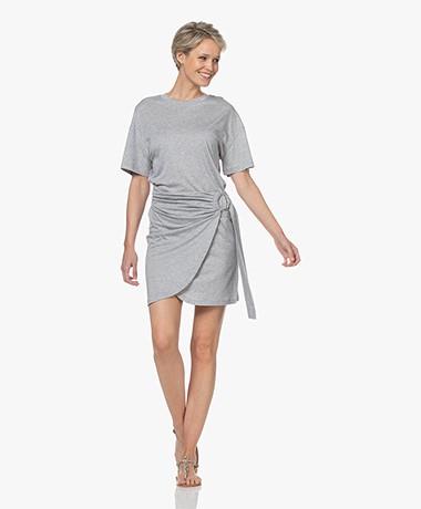 ba&sh Erika Lyocell Jersey T-shirt Dress - Grey