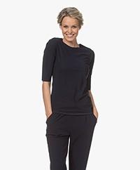 Woman by Earn Lise Tech Jersey Halflange Mouwen T-shirt - Navy