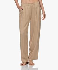 American Vintage Karow Jacquard Viscose Pantalon - Havane