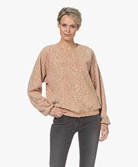 Ragdoll LA Oversized Print Sweatshirt - Gold Leopard