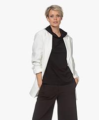 Filippa K Adriana Straight Viscose Blend Blazer - White Chalk