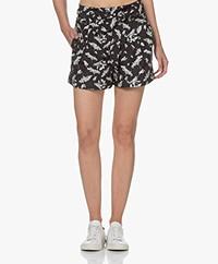 Rag & Bone River Print Shorts - Black Multi