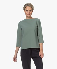 studio .ruig Thekla Tech Jersey Boatneck T-shirt - Jade