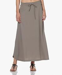 JapanTKY Ruby Travel Jersey A-line Skirt - Olive